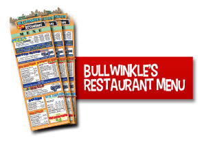 Wilsonville Family Fun Center - Bullwinkle's Restaurant Menu